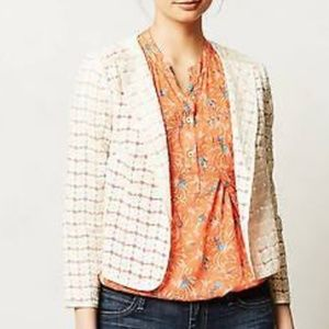 Elevenses | Floral Embroidered Blazer